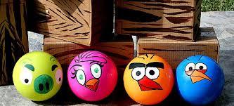 painted angry bird balls simply creative ways