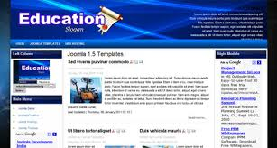 education template for joomla 1 5