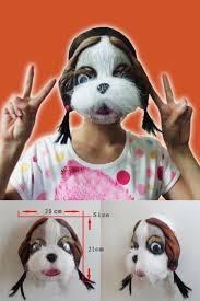 halloween dog mask halloween lion dog cat wolf latex animal face mask costume party
