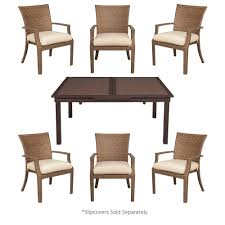 Hampton Bay Corranade 5 Piece - hampton bay tobago 7 piece patio dining set with cushion insert