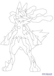 Coloriage MégaLucario Pokemon à imprimer