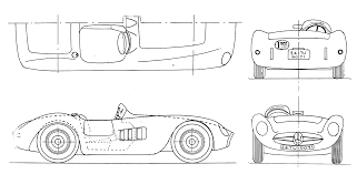 maserati 300s maserati 300s blueprint download free blueprint for 3d modeling