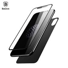 Glass Back by Online Shop Baseus Premium Front Back Screen Protector For Iphone