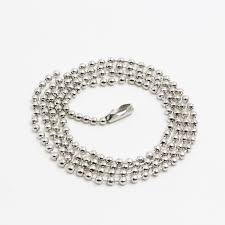 steel ball necklace images Fashion silver ball bead necklace high quality 2mm 60cm stainless jpg