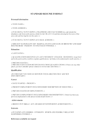 standard resume examples resume example and free resume maker