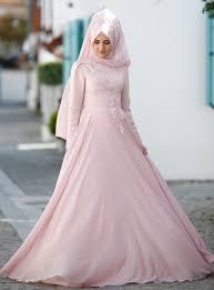 wedding dress muslimah simple sleeve muslim evening dresses modanisa