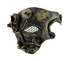 steunk masquerade mask metallic steunk phantom half masquerade mask co uk