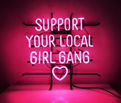 new custom neon sign pink room decor u0027support your local bang