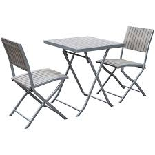 gallant contemporary 3 piece folding bistro set sun bleached