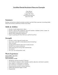 Resume Sample Objective Summary by Writing Dental Assistant Resume Effectively Recentresumes Com