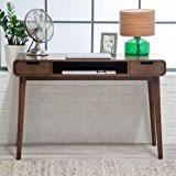 leon mid century desk amazon com angelo home leon mid century desk home kitchen