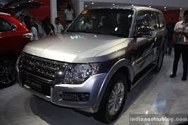 mitsubishi suv 2015 mitsubishi pajero facelift front three quarter at campi 2014