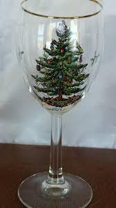 spode set of 4 tree wine glasses ebay