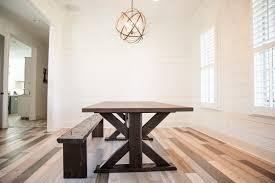 Trestle Table Bench Reclaimed Wood Trestle Table And Bench Reclaimed Wood Farm Table