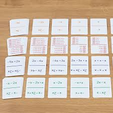 buy ks3 simplifying maths expressions activity cards tts