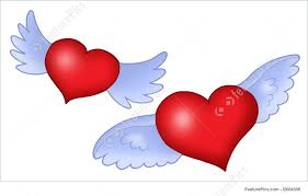 Hearts With Wings - with wings illustration