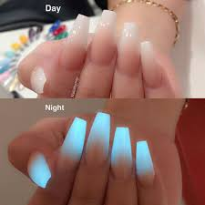 glow in the dark ombre styles nails edition pinterest