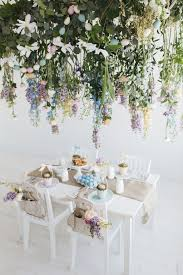pottery barn kids flower table pottery barn kids easter brunch with hanging floral installation