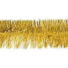 gold metallic tinsel garland stumps