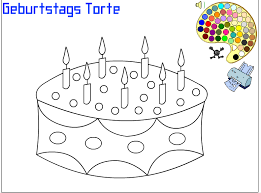 play birthday cake color pages game kidonlinegame