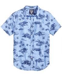 superdry s ultimate indigo aloha shirt casual button