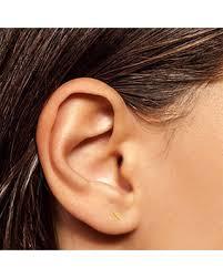tiny earrings bargains on gold bar earrings gold line earrings gold staple