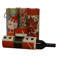 Wine Gift Boxes Amazon Com Christmas Wine Gift Box Tubes 1 Of Each Design 4