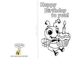 happy birthday grandma printable coloring card doodle color source