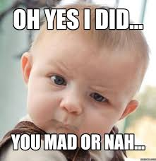 Mad At You Meme - oh yes i did you mad or nah meme image golfian com