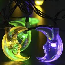 Solar Powered Outdoor Lights by Moon Shape Multi Color Solar Powered Outdoor String Lights With 30
