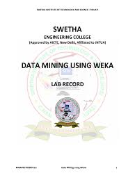 data warehousing and data mining lab manual cross validation
