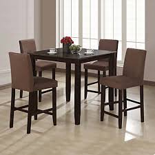 High Dining Room Sets by Wylie Counter Height Dining Room Set With Brown Chairs Counter