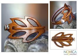leather leaf bracelet images Shop handmade lucky leaf style whimsical artisan designer fashion jpg