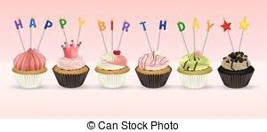 vectors of happy birthday card template with cheesecake