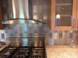 stainless steel backsplash behind range linoleum flooring square