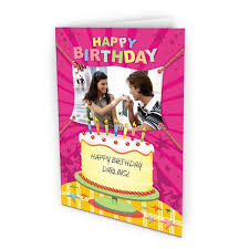 personalised birthday cards with photo upload love you