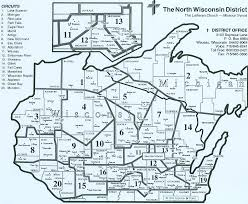 Map Of Upper Michigan by North Wisconsin District Lutheran Laymen U0027s League