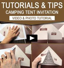 diy invitations cing tent invitation diy tutorial