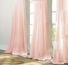 Pale Pink Curtains Decor Pale Pink Chiffon Curtain Sheer Window Dressing Draping Home