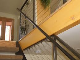 indoor railing wooden with bars for stairs carved fish escaleras interior cable railing with continuous stair hand rail mclean forge and welding best interior colors