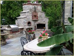 home decor outdoor fireplace and pizza oven tv feature wall