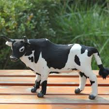 outdoor garden ornaments artificial cow in stuffed plush animals