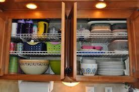 kitchen cabinets with shelves 24 easy rv organization tips rvshare com