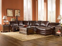 Impressive  Living Room Ideas With Leather Sectional Design - Living room sets ideas