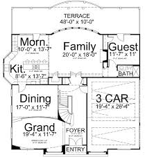 Standard Measurement Of House Plan Italian Style House Plans Plan 24 203