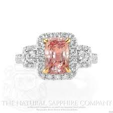 padparadscha sapphire engagement ring padparadscha sapphires 10 tips on judging the gem
