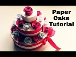 paper cake tutorial how to make birthday cake youtube