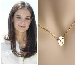14k Gold Initial Disc Necklace Cheap Disc Initial Necklace Find Disc Initial Necklace Deals On