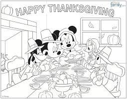 disney characters thanksgiving coloring pageskids coloring pages