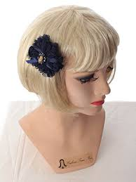 hair chiffon navy blue ruffle chiffon bow hair clips hair ornament blue